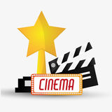 Clapboard cinema and movie design Royalty Free Stock Photography
