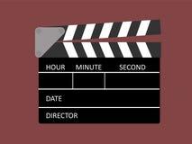 Clapboard clapper movie film action vector illustration. Clapperboard action movei vector illustration Stock Photos