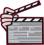 Clapboard Clapperboard Clapper Front Royalty Free Stock Photo