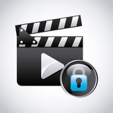 Clapboard. Design, vector illustration eps10 graphic Royalty Free Stock Images