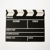 clapboard film Zdjęcia Stock