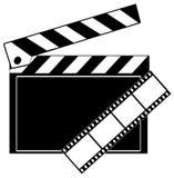 clapboard film strip Στοκ φωτογραφία με δικαίωμα ελεύθερης χρήσης