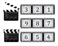 Clapboard and Film countdown Stock Photos