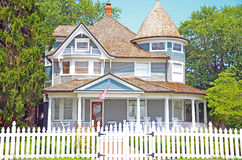 Clapboard House Stock Photo
