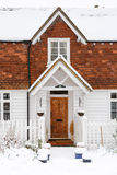 Clapboard house front Stock Image