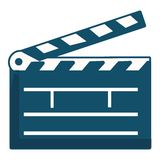 Clapboard, icon, cartoon style Royalty Free Stock Photo