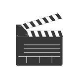 Clapboard icon. Movie design. Vector graphic. Movie concept represented by clapboard icon. isolated and flat illustration Royalty Free Stock Image