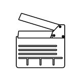 Clapboard icon. Movie design. Vector graphic. Movie concept represented by clapboard icon. isolated and flat illustration Stock Images