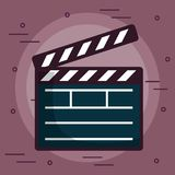 Cinema clapboard icon Royalty Free Stock Photos