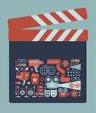 Clapboard Illustration. Stock Photo