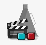 Clapboard kino i filmu projekt Zdjęcie Royalty Free