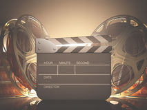 Clapboard Light Stock Image