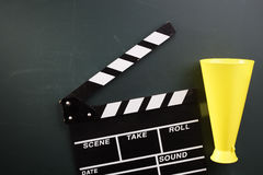 Clapboard and megaphone Stock Photography