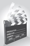 Clapboard in move Royalty Free Stock Image