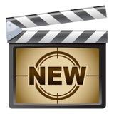 clapboard nowy ekranowy Zdjęcia Stock