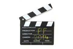 Clapboard (PF 2014) Royalty Free Stock Photo