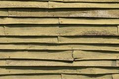 Clapboard Siding on Log Cabin Stock Photo