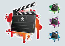 Clapboard symbol set. Royalty Free Stock Photography