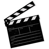 Clapboard vector. Illustration of a movie scene clapboard with blank copy space vector Royalty Free Stock Photo