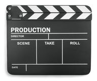 Clapboard on white background Royalty Free Stock Photo