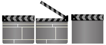 Clapboards Royalty Free Stock Photography