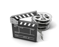 Clapboards  and film reel Royalty Free Stock Photo