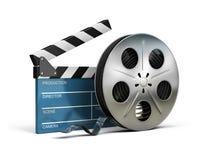 Clapet de cinéma et bande de film Image libre de droits