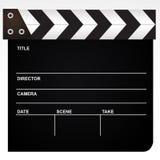 Clapet de film d'isolement sur le backgroun blanc Photographie stock