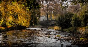 Clapham Beck Bridge View som _Morning royaltyfri fotografi