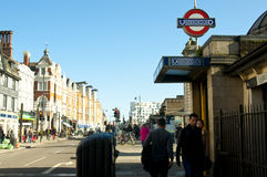Clapham Common tube station Royalty Free Stock Image
