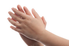 Clapped hands Royalty Free Stock Image