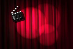 Clapper κινηματογράφων πίνακας Στοκ Εικόνα