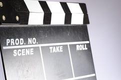 Clapper κινηματογράφων πίνακας Στοκ φωτογραφίες με δικαίωμα ελεύθερης χρήσης