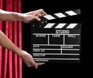 Clapper κινηματογράφων χαρτόνι Στοκ Φωτογραφίες