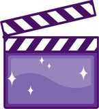 Clapper κινηματογράφων Στοκ Εικόνα