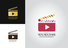 Clapper λογότυπο σχεδίου παιχνιδιού διανυσματική απεικόνιση