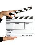 clapper χαρτονιών κινηματογράφο& Στοκ Εικόνες