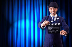 Άτομο με clapper κινηματογράφων Στοκ Εικόνες