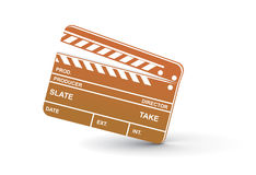 Clapper board. Vector modern colored clapper board with white board Royalty Free Stock Photography