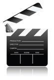 Clapper board. Vector illustration of movie clapper board Stock Photos
