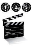 Clapper board. Movie clapper board in white background Stock Photo