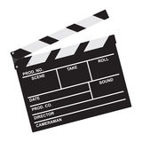 Clapper board. Isolated on white background Royalty Free Stock Photos