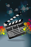 Clapper board. In dark background Stock Photo