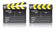 Clapper board. On white background, vector EPS 10 Royalty Free Stock Photo