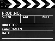 Clapper board. Or slate black board with texture Royalty Free Stock Image