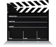 Clapper board. A  clapper boardas used in the film industry Royalty Free Stock Photography