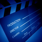 Clapper board. In color spot lighting Royalty Free Stock Photo
