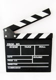 Clapper Board. A photo of a isolated  movie clapboard Stock Image