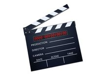Clapper board. For fill the detail Stock Photography