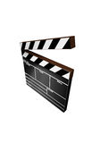 Clapper Board. Isolated (3D image royalty free illustration